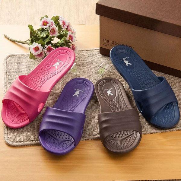 【PLAYBOY】室內室外浴室萬用抗滑EVA超輕拖鞋(1雙)