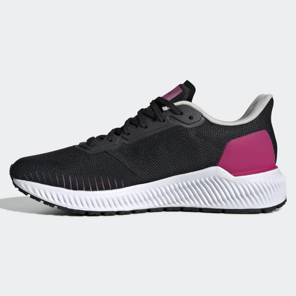 Adidas SOLAR RIDE 女鞋 慢跑 休閒 襪套 避震 黑 【運動世界】 EF1444