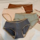 三角褲 新款高中生少女中腰內褲女純棉抗菌女生日系學生三角褲四條裝-Ballet朵朵