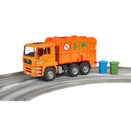 BRUDER 1:16 橘垃圾車_RU2760