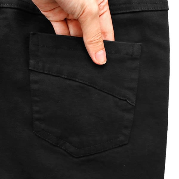 ★冬裝上市★MIUSTAR 經典素色假腰頭顯瘦彈力褲(共2色,S-XL)【NF4001EW】預購