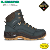 【LOWA 德國 男 Renegade GTX Mid 中筒多功能健行鞋《海軍藍/蜜黃》】LW310945/登山鞋/徒步鞋