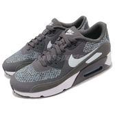【六折特賣】Nike 休閒慢跑鞋 Air Max 90 Ultra 2.0 SE GS 灰 藍 氣墊 女鞋 大童鞋【PUMP306】 917989-002
