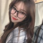 網紅款眼鏡框女韓版潮黑粗框復古文藝大臉圓臉顯瘦原宿素顏平光鏡