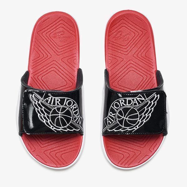 Nike Jordan Hydro 7 PS 童鞋 中童 拖鞋 魔鬼氈 黑 紅 白 【運動世界】 AA2518-001