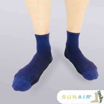 sunair 滅菌除臭襪子-運動薄襪 短筒 (L25~29) (深藍+黑) /SA2803