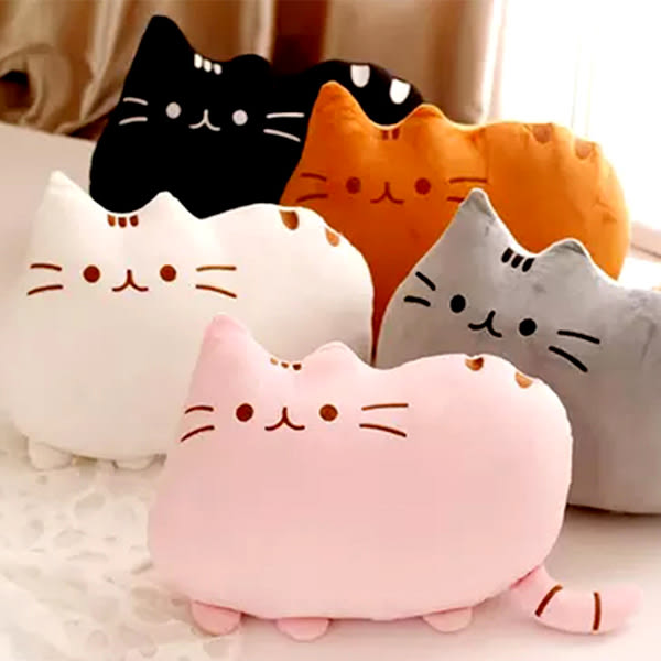 【BlueCat】彩虹迷你餅乾貓絨毛玩偶 抱枕 facebook貓 臉書貓 (25cm)