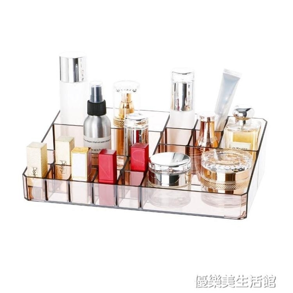 化妝品收納盒置物架桌面ins風透明公主護膚品桌上壓克力家用簡約