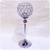 HONEY COMB 金屬合金壓克力水晶酒杯高腳燭台 CA16