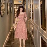 雪紡連身裙 雪紡流行連身裙子收腰顯瘦氣質大碼女裝夏年新款春裝洋氣早春 曼慕衣櫃