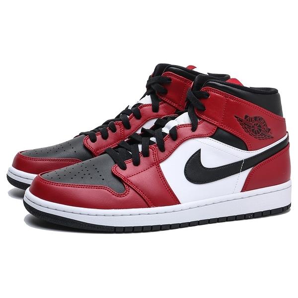 AIR JORDAN NIKE MID BLACK TOE8孔 中筒 AJ1 1代 籃球鞋 男 (布魯克林) 554724-069