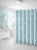 洗澡間淋浴防水浴簾免打孔套裝