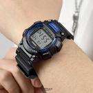 CASIO手錶 黑藍運動多功能電子錶NE...