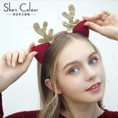 髮飾 韓國髮箍鹿角頭飾可愛新款髮髮卡小鹿貓耳朵頭箍女髮夾-凡屋