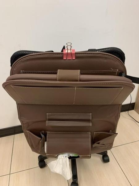 皮革質感汽車椅背置物袋收納袋(60*45/@777-2731)