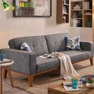 【綠家居】丹尼爾 時尚灰亞麻布二用沙發/沙發床(五段式可調整機能設計)