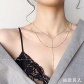 性感雙層項鏈女長鎖骨鏈頸鏈胸鏈多層小資女身體鏈簡約氣質潮網紅生日禮物 LJ7046【極致男人】