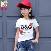 女童t恤短袖夏裝新款寶寶打底衫中大童純棉半袖上衣兒童體恤