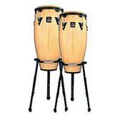 LP康加鼓A646B-AW(10+11)Aspire® Wood Conga Sets原木黑框雙架