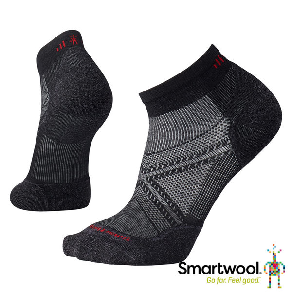 Smartwool PhD菁英減震型跑步低筒襪-黑 【GO WILD】
