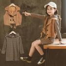 女童套裝 2021新款秋裝時髦洋氣馬甲中大童兒童春秋季韓版連身裙兩件套 3C數位百貨