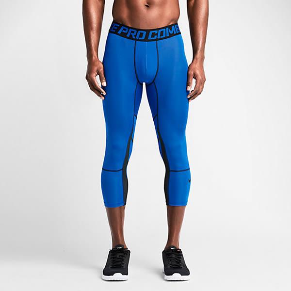 (特價) NIKE HYPERCOOL 3/4 TIGHT 636161-480 藍色 緊身壓力七分褲 籃球束褲 運動薄束褲 【代購】