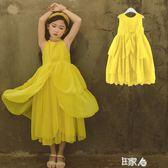 洋裝童裝女童連身裙夏季背心裙 E家人