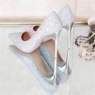 水晶婚鞋網紅法式少女高跟鞋女