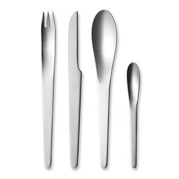 丹麥 Georg Jensen Arne Jacobsen 4pcs, AJ 系列 刀叉匙 四件式禮盒(單人份- 4 件式)
