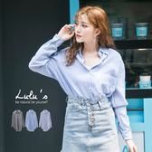LULUS-L單口袋條紋襯衫-3色  現+預【01032057】