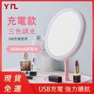 LED化妝鏡【現貨】鏡子led鏡子梳妝鏡 化妝鏡子 補光化妝鏡 帶燈化妝鏡 町目家