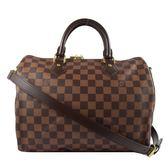 Louis Vuitton LV N41367 N41183 Speedy 30 棋盤格紋附背帶手提包 全新 現貨【茱麗葉精品】