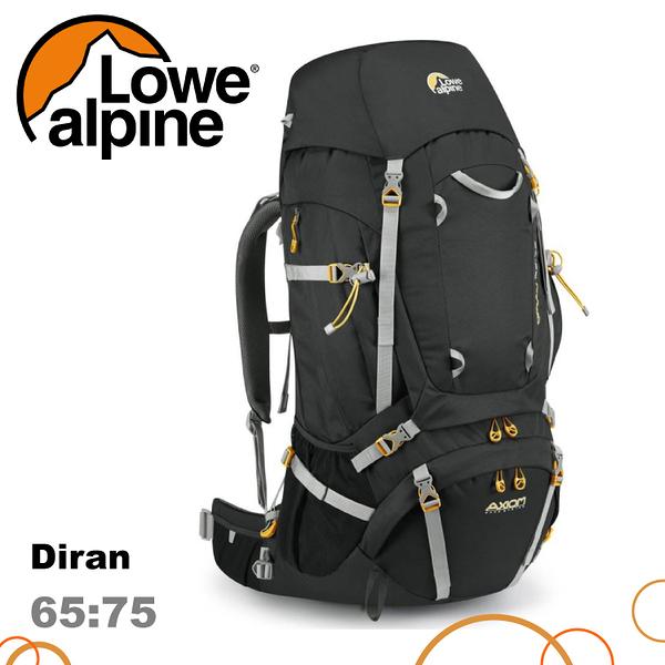 【 LOWE ALPINE 英國 Diran 65:75 登山背包《煤碳黑》65-75L】FMP-93/雙肩背包/後背包/健行/旅行
