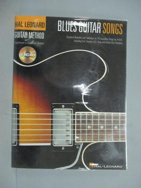 【書寶二手書T5/音樂_ZKL】Blues Guitar Songs: Guitar Method_Not Availa