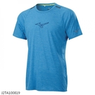 MIZUNO 男裝 短袖 T恤 吸汗快乾 前胸反光印花 兩肩反光織帶 藍【運動世界】J2TA100819