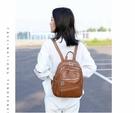 簡約百搭雙肩包 多功能潮流休閒包包 個性大容量旅行包女士包包 韓版時尚休閑PU軟皮包