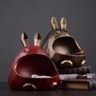 美式客廳創意家用糖果盤創意可愛家居零食玄關鑰匙收納盒北歐擺件 亞斯藍