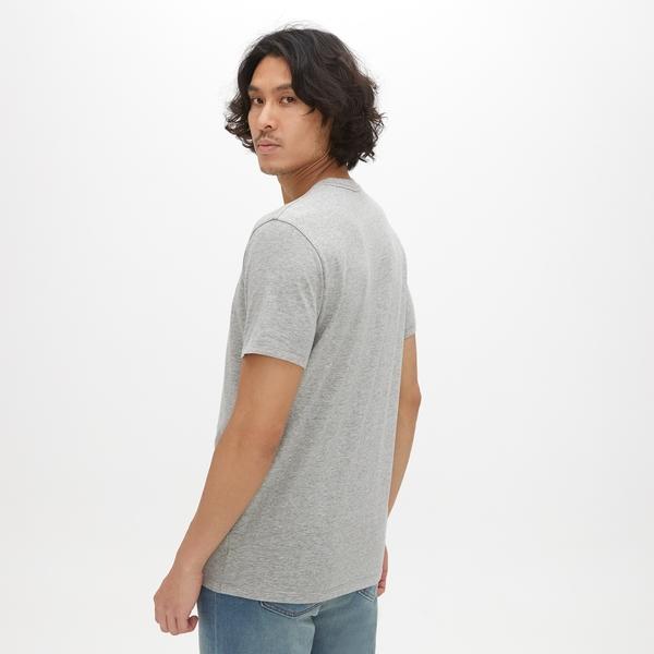 Gap男裝 Logo印花圓領短袖T恤 465994-石楠灰