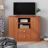 電視櫃 增高款80現代簡約小戶型經濟型臥室主臥仿實木電視機柜TW【快速出貨八折下殺】