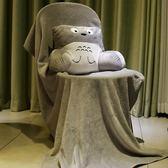 抱枕 汽車男靠墊辦公室護腰靠背椅子靠枕暖手女抱枕被子兩用三合一毯子 巴黎春天