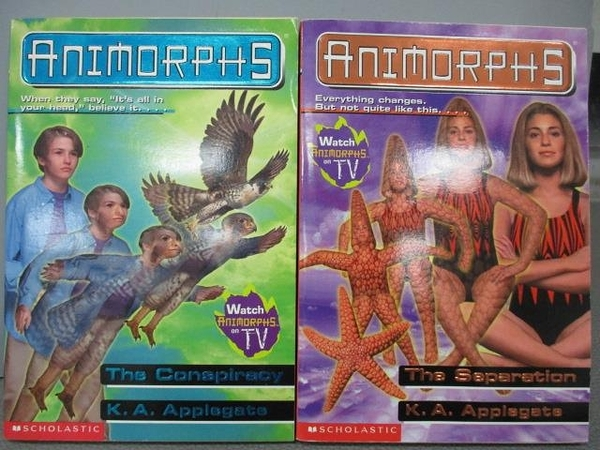 【書寶二手書T1/原文小說_MBV】Animorphs-The Conspiracy_The Separation_2本合售