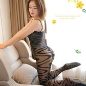 黑色系 緹花吊帶開襠性感連身貓裝 性感貓裝 造型絲襪 連身褲襪 銀白色情趣用品