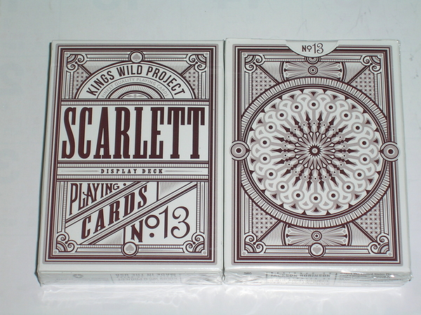 【USPCC 撲克】SCARLETT tally ho display deck