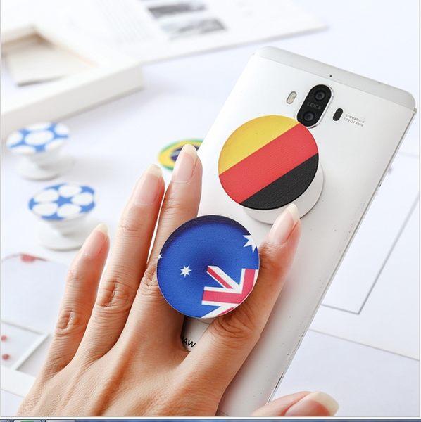 88柑仔店~創意世界杯足球氣囊支架 可伸縮背貼懶人手機支架指環支架