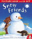 【麥克書店】SNOW FRIENDS /英文故事繪本+CD
