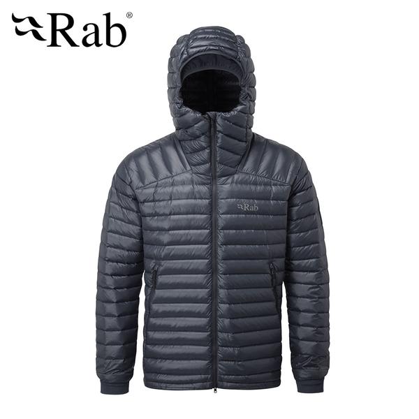 英國 RAB Microlight Summit Jacket 高透氣羽絨連帽外套 男款 鋼鐵藍 #QDA88