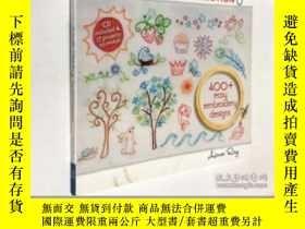 二手書博民逛書店Doodle罕見Stitching: The Motif Collection: 400+ Easy Embroi