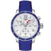 [結帳再折] TISSOT 天梭 T-SPORT 經典現代運動計時腕錶-藍/42mm/T0954491703700
