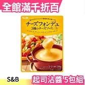 【5包組】日本 S&B 超濃厚起司沾醬 250g x5包 中秋烤肉 火鍋 沙拉 皆可用【小福部屋】
