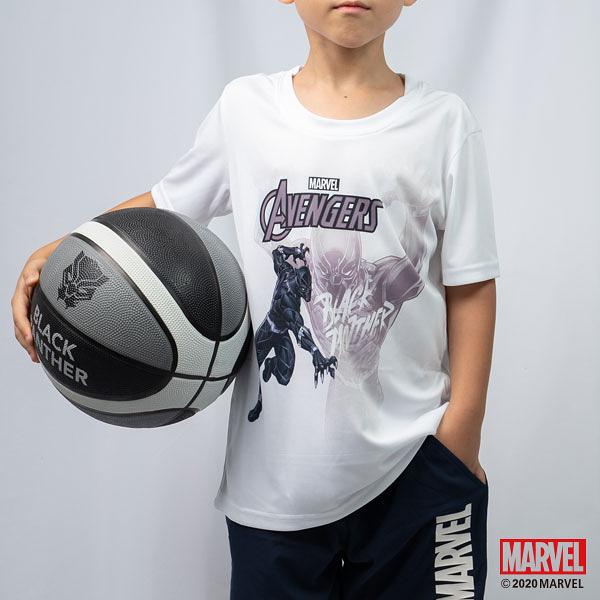 買衣送球!! MARVEL漫威運動服飾 小童運動短袖T恤 吸濕排汗透風 運動上衣 黑豹主題設計